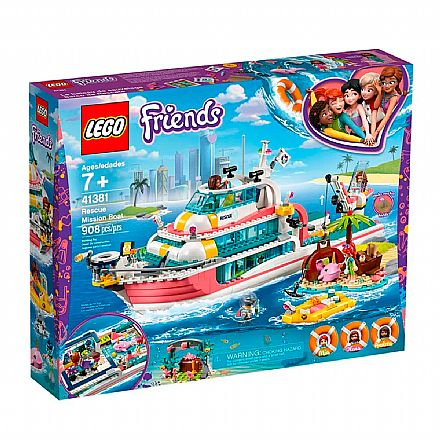 LEGO Friends - Missão com o Barco de Resgate - 41381