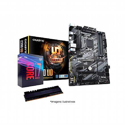 Kit Upgrade Intel® Core™ i7 9700K + Gigabyte Z390 UD + Memória 8GB DDR4