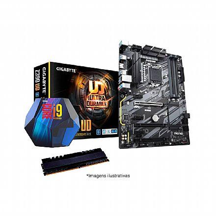 Kit Upgrade Intel® Core™ i9 9900K + Gigabyte Z390 UD + Memória 16GB DDR4