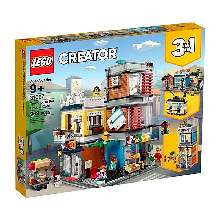 LEGO Creator - Modelo 3 Em 1: Loja de Animais & Café - 31097