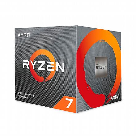 AMD Ryzen 7 3800X Octa Core - 16 Threads - 3.9GHz (Turbo 4.5GHz) - Cache 32MB - AM4 - TDP 105W - Wraith Spire Cooler - 100-100000025BOX - sem gráfico integrado