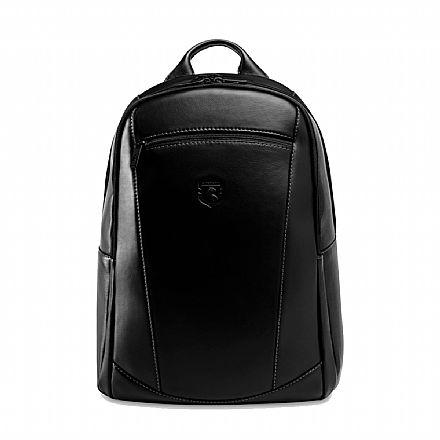 """Mochila de couro legítimo Nordweg Black Edition - Italiano Preto - para Notebooks até 15.6"""" - NW074B-IP"""