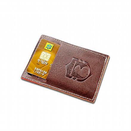 Carteira masculina em couro legítimo Party Wallet Nordweg - compacta - Italiano Café - NW009A-IC
