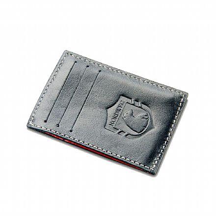 Carteira masculina em couro legítimo Party Wallet Nordweg - compacta - Forração interna Preta - Italiano Preto - NW009A-IP