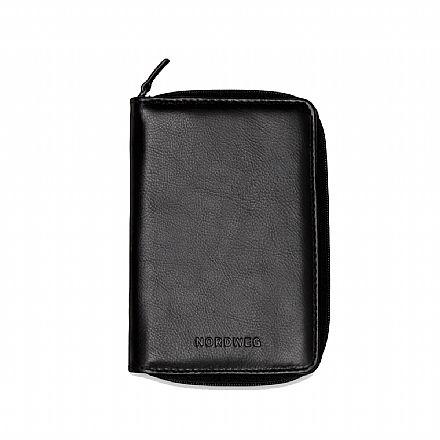 Porta passaporte em couro legítimo Nordweg Nômade - Italiano Preto - NW087-IP