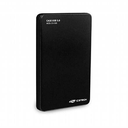 "Case para HD 2.5"" C3 Tech - USB 3.0 - CH-300BK"