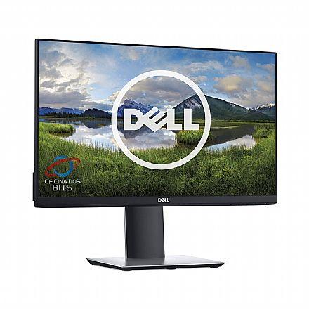 """Monitor 27"""" Dell P2719H Profissional - IPS Full HD - Regulagem de Altura e Rotação 90° - HUB USB - DisplayPort/HDMI/VGA"""