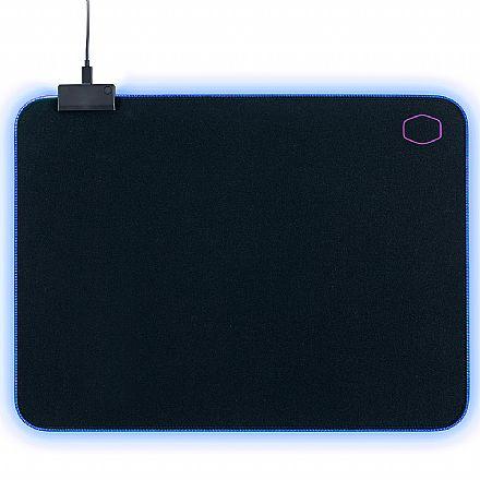 Mouse Pad Cooler Master Masteraccessory MP750 - com iluminação RGB - Médio - 370 x 270 x 3mm - MPA-MP750-M
