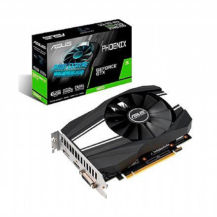GeForce GTX 1660 6GB GDDR5 192bits - OC Edition - Asus PH-GTX1660-O6G