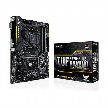Asus TUF X470-PLUS GAMING (AM4 - DDR4 3466 OC) - Chipset AMD X470 - USB 3.1 Tipo C - Slot M.2 - ATX