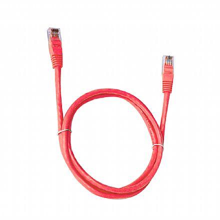 Cabo de Rede UTP (Patch Cord) RJ45 Cat 6 - 10 metros - Vermelho - Plus Cable PC-ETH6U100RD