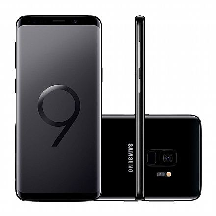 "Smartphone Samsung Galaxy S9 - Tela 5.8"" Quad HD+, Câmera 12MP, 128GB, Dual Chip, 4G, Octa Core - Preto - SM-G9600/1DL"