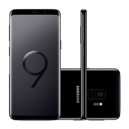 "Smartphone Samsung Galaxy S9 - Tela 5.8"" Quad HD+, Câmera 12MP, 128GB, Dual Chip, 4G, Octa Core - Preto - SM-G9600/1DL"