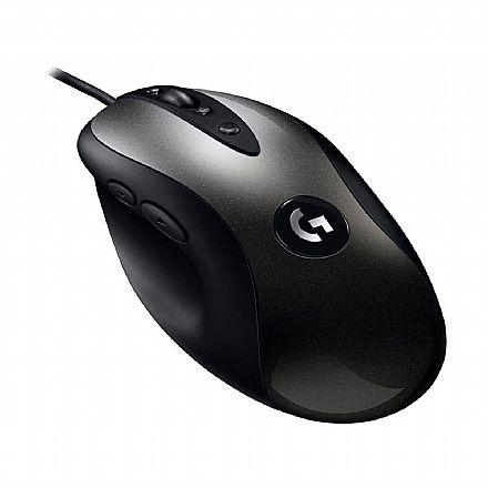 Mouse Gamer Logitech MX518 Legendary HERO 16K - 16000dpi - 8 botôes Programáveis - 910-005543