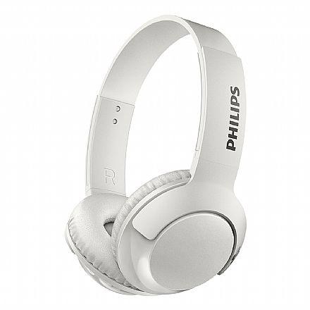 Fone de Ouvido Bluetooth Philips Bass+ SHB3075WT/00 - com Microfone Embutido - Branco