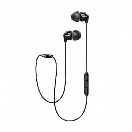 Fone de Ouvido Bluetooth Philips Upbeat - Intra-auricular - Com Microfone - SHB3595BK/10 - Preto