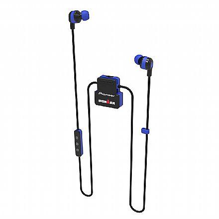 Fone de Ouvido Esportivo Bluetooth Intra-Auricular Pioneer SE-IM5BT-L - com Microfone - Resistente a suor - Azul [i]