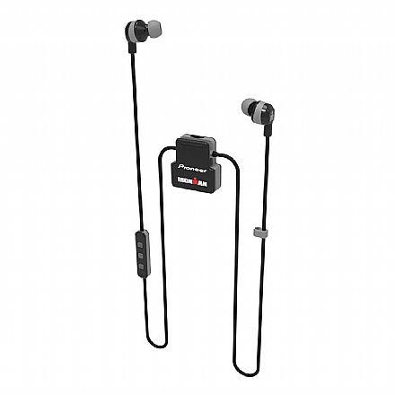 Fone de Ouvido Esportivo Bluetooth Intra-Auricular Pioneer SE-IM5BT-H - com Microfone - Resistente a suor - Cinza [i]