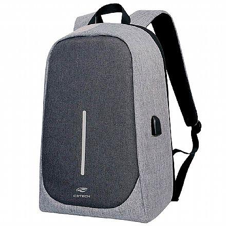"Mochila C3Tech Tokyo - para Notebooks de até 15.6"" - MC-100GY - Cinza"