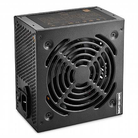 Fonte 500W Deepcool DA500 V2 - PFC Ativo - Eficiência 85% - 80 PLUS® Bronze - DP-BZ-DA500N