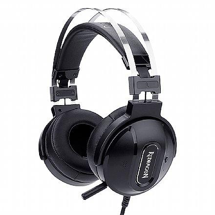 Headset Redragon Ladon 7.1 - Conector USB - Controle de Volume e Vibração - com Cancelamento de Ruidos Ativo - H990