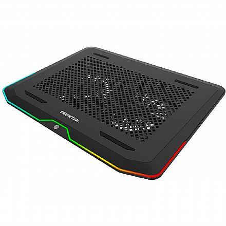 Suporte para Notebook Deepcool N80 - RGB - 2 Ventoinhas - DP-N222-N80RGB