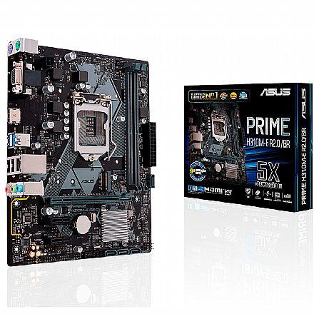 Asus Prime H310M-E R2.0/BR (LGA 1151 - DDR4 2666) Chipset Intel H310 - 9ª Geração Coffee Lake - USB 3.1 - Slots M.2 - Micro ATX