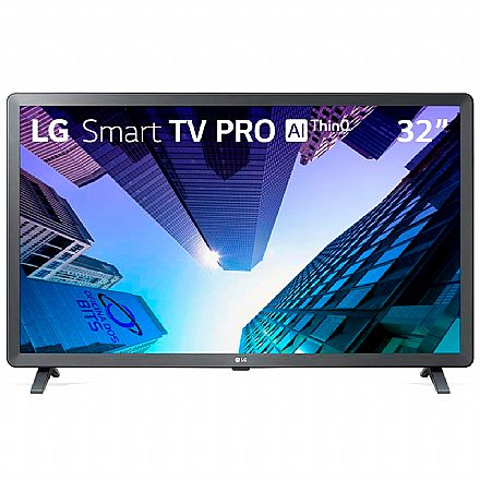 "TV 32"" LG 32LM621 Pro - Smart TV - HD - HDR Ativo - Inteligência Artificial ThinQ AI - WebOS 4.5 - Wi-Fi e Bluetooth Integrado - HDMI/USB"