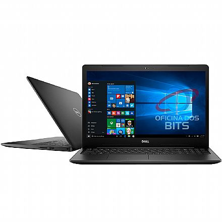 "Notebook Dell Inspiron i15-3583-A20P - Tela 15.6"", Intel i5 8265U, 16GB, HD 2TB, Vídeo Radeon 520, Windows 10 - Preto"