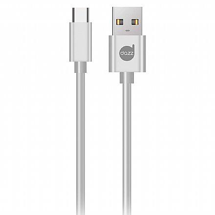 Cabo USB-C para USB - 90cm - USB Tipo C - Branco - Dazz 6013743