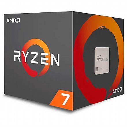 AMD Ryzen™ 7 2700X Octa Core - 16 Threads - 3.7GHz (Turbo 4.35GHz) - Cache 20MB - AM4 - TDP 105W - Wraith Prism RGB Cooler - YD270XBGAFBOX - sem gráfico integrado