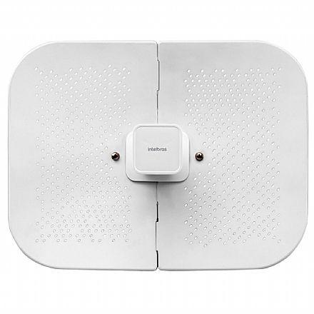 CPE Intelbras WOM 5A-23 - 5 GHz - Antena 23dBi - 1 porta PoE 10/100Mbps - Alcance de até 20km - Throughput TCP efetivo de até 160Mbps