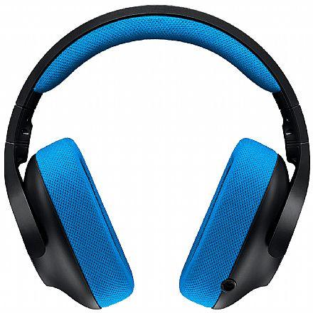 Headset Gamer Logitech G233 Prodigy - Drivers Pro-G - Microfone com Cancelamento de Ruído - Conector 3.5mm - Compatível com PC, PS4, Xbox One, Nintendo Switch, Smartphones e Tablets