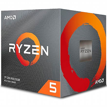 AMD Ryzen 5 3600X Hexa Core - 12 Threads - 3.8GHz (Turbo 4.4GHz) - Cache 32MB - AM4 - TDP 95W - Wraith Spire Cooler - 100-100000022BOX - sem gráfico integrado