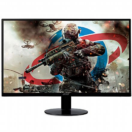 "Monitor 23"" Acer Gamer SA230 Series - Ultra-Fino - Full HD IPS - 75Hz - FreeSync - 1ms - Flicker-less - HDMI/VGA"