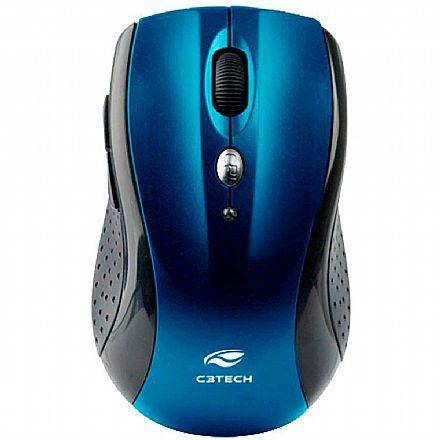Mouse sem Fio C3 Tech M-W012BL V2 - 2.4GHz - 1600dpi - 6 botões - Azul