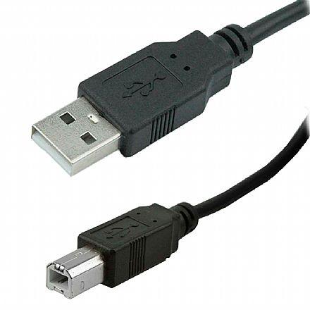 Cabo USB para Impressora - AM/BM - Versão 2.0 High Speed - 1,80 metros - Chip SCE 018-1403