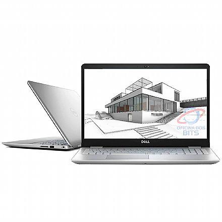 "Notebook Dell Inspiron i15-5584-M40F - Tela 15.6"" Full HD, Intel i7 8565U, 16GB, HD 2TB + SSD 120GB, GeForce MX130, Windows 10 - Prata - Outlet"