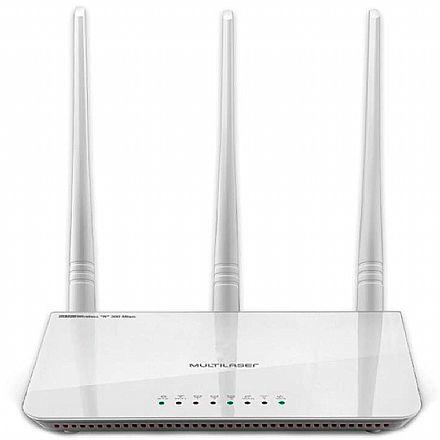 Roteador Wi-Fi Multilaser RE163V - 300Mbps - 2.4 GHz - 3 antenas 5dBi
