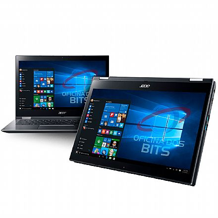 "Notebook Acer Spin 3 SP314-51-31RV 2 em 1 - Tela 14"" Touch HD, Intel i3 7020U, 4GB, HD 1TB, Windows 10"