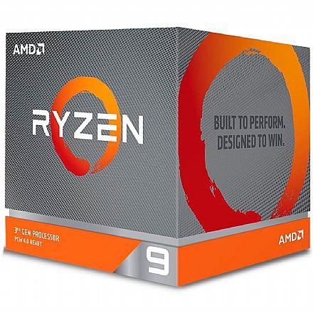 AMD Ryzen™ 9 3900X 12 Core - 24 Threads - 3.8GHz (Turbo 4.6GHz) - Cache 64MB - AM4 - TDP 105W - Wraith Prisma Cooler - 100-100000023BOX - sem gráfico integrado