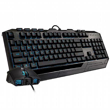 Kit Teclado e Mouse Gamer Cooler Master Devastator III Plus - LED 7 Cores - 2400dpi - ABNT2 - SGB-3001-KKMF1-BR