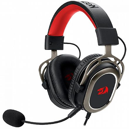 Headset Gamer Redragon Helios H710 - com Controle de Volume e Microfone - USB - Conector 3.5mm removível - Compatível com PC / PS4 / PS3 / Xbox One X / Switch