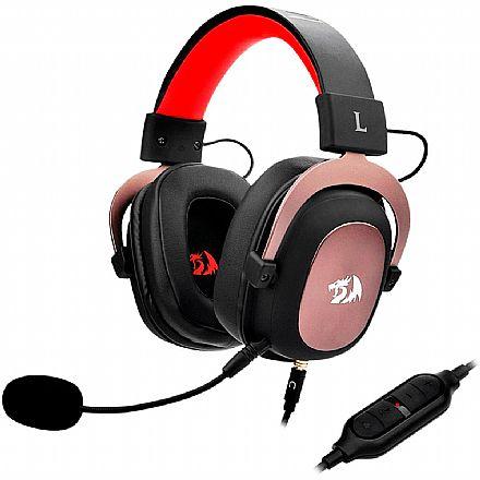 Headset Gamer Redragon Zeus H510 - com Controle de Volume e Microfone removível - Conector 3.5mm removível - Compatível com PC / PS4 / PS3 / Xbox One / Switch