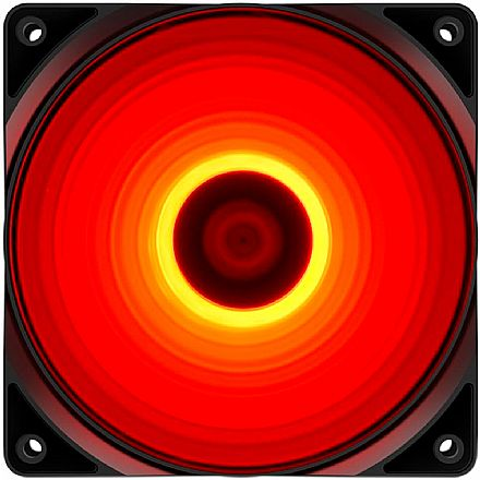 Cooler 120x120mm DeepCool RF120R - LED Vermelho - DP-FLED-RF120-RD