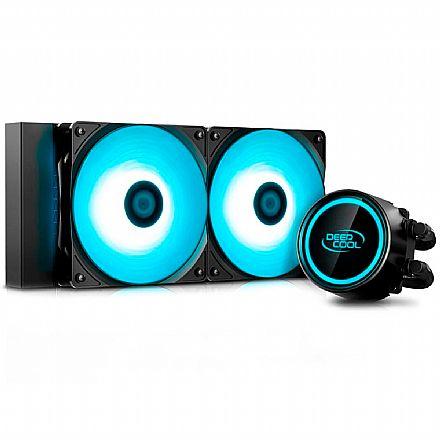 Water Cooler DeepCool Gammaxx L240 V2 (AMD / Intel) - LED RGB - DP-H12RF-GL240V2