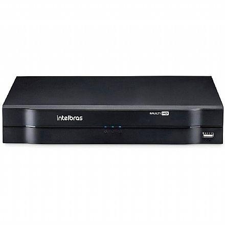 DVR 8 Canais Intelbras MHDX 1108 - Stand Alone - Multi HD - IP, HDCVI, HDTVI 2.0, AHD-M, Analógica - Compatibilidade ONVIF