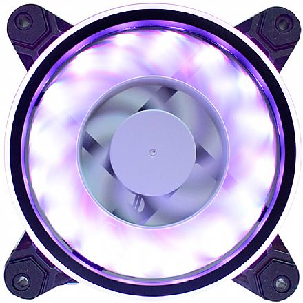 Cooler 120x120mm Gaming Master AF-Y1225 - com LED RGB Rainbow Slim Ring - AFY1225ID437K0