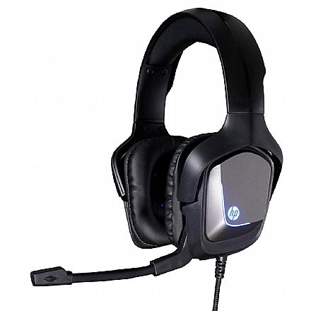 Headset Gamer HP H220GS - Som Virtual 7.1 Surround - com Microfone - Conector USB - Iluminação LED - 8AA12AA