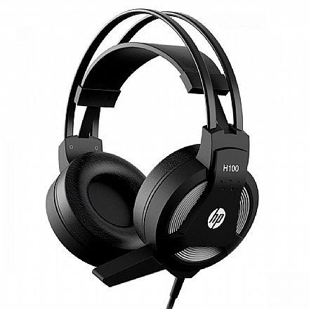 Headset Gamer HP H100 - com Controle de Volume e Microfone - Conectores 3.5mm - 7QV34AA
